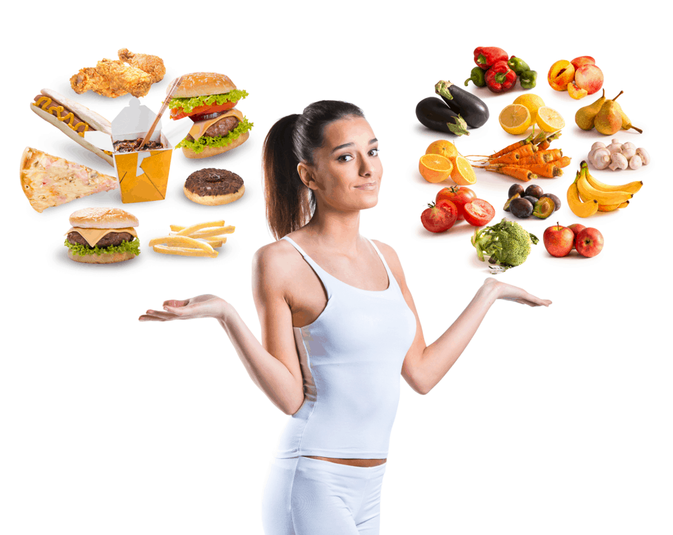 Healthy diet and weight to avoid lower back pain