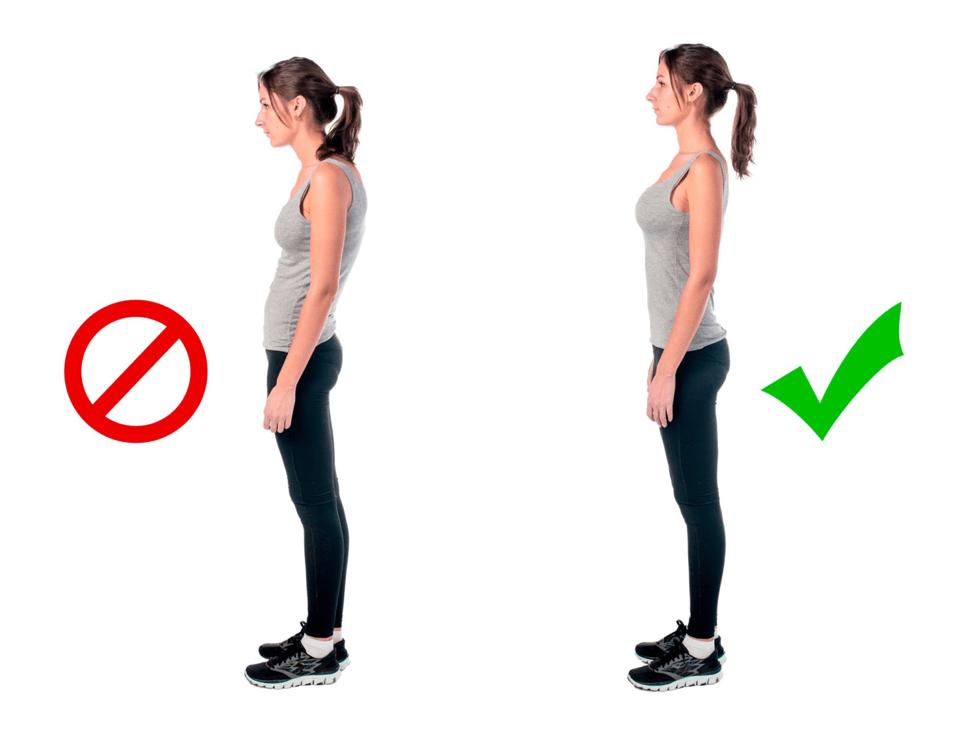 Proper posture to avoid lower back pain